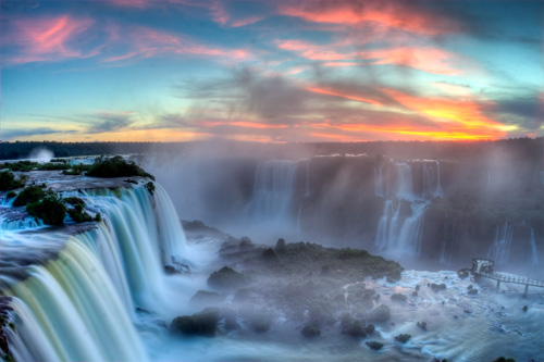 Sunset over Iguazu by SF Brit on Flickr