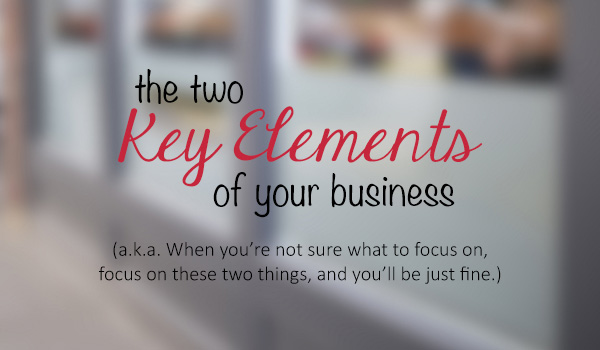 How To Always Know What To Focus On In Your Business: Introducing The Two Key Elements