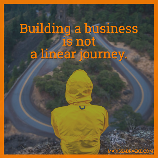 Building A Business Is Not A Linear Journey