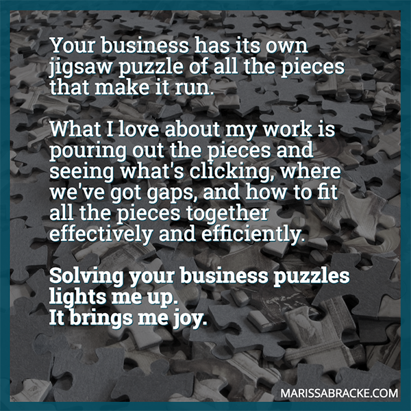 Solving your business puzzles lights me up