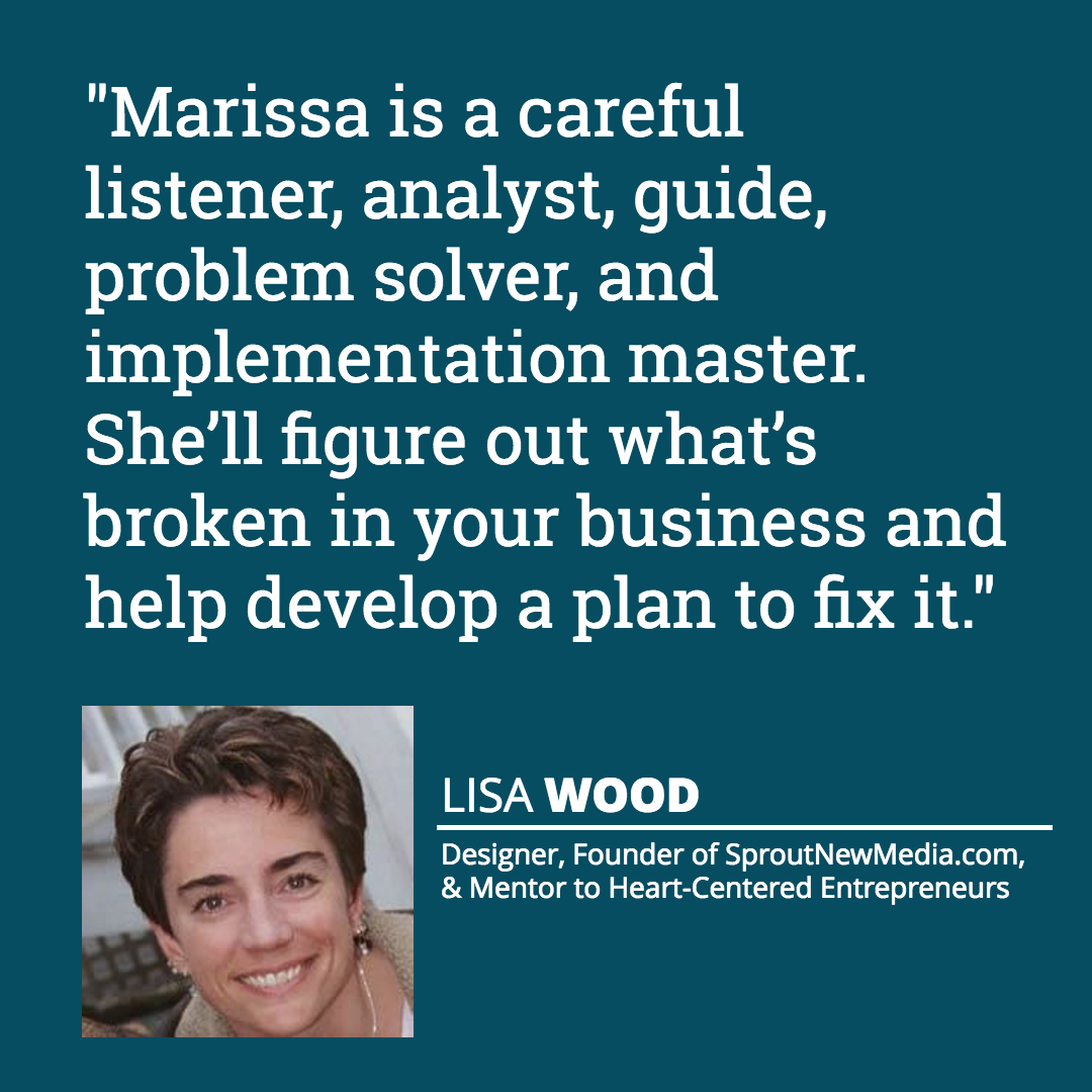 Lisa Wood testimonial quote