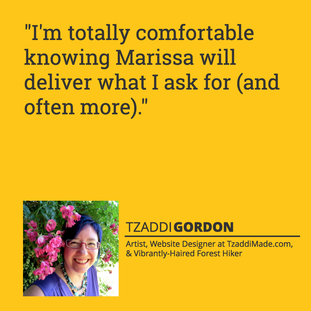 Tzaddi Gordon testimonial quote